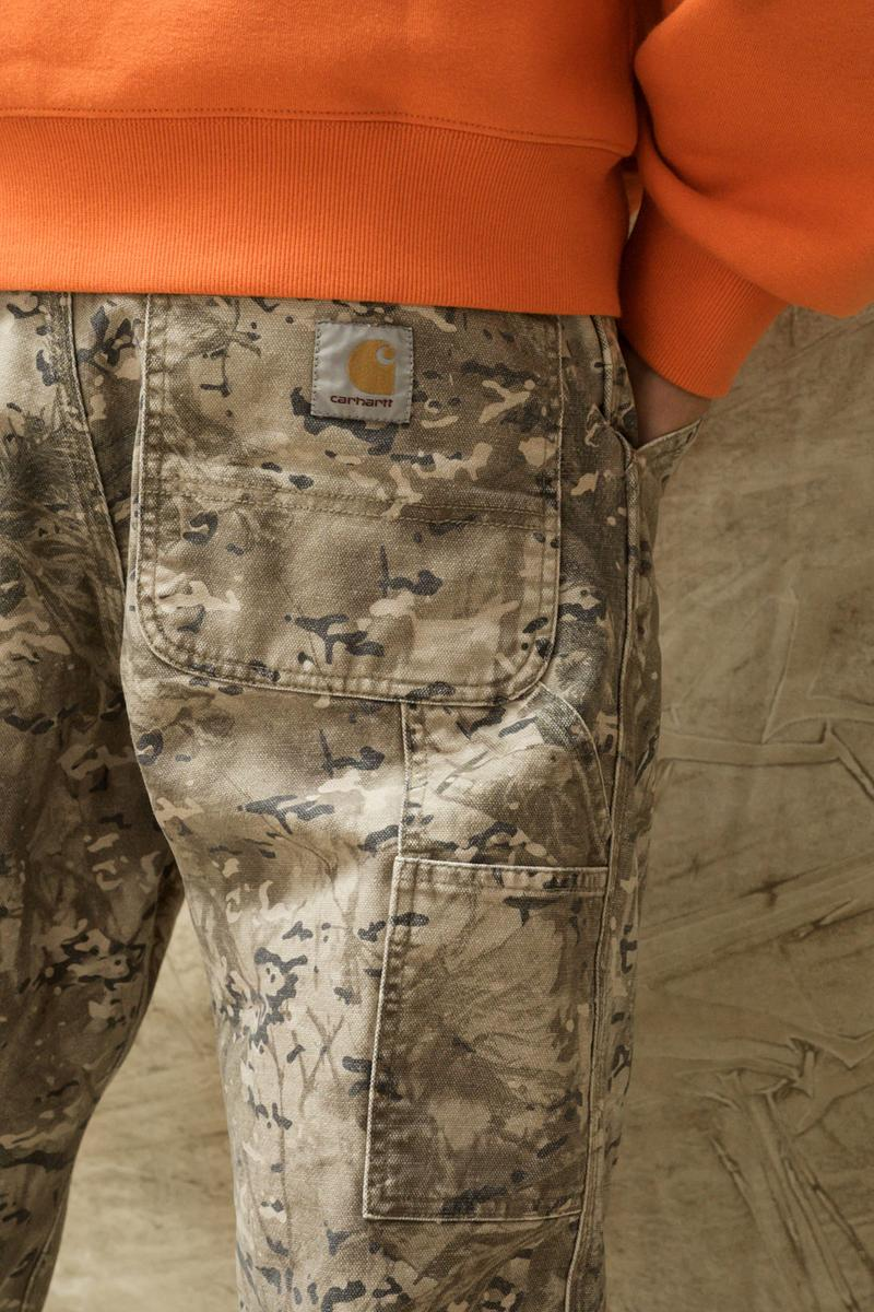 carhartt wip spring summer 2021 ss21 collection lookbook camouflage military trousers back pocket logo