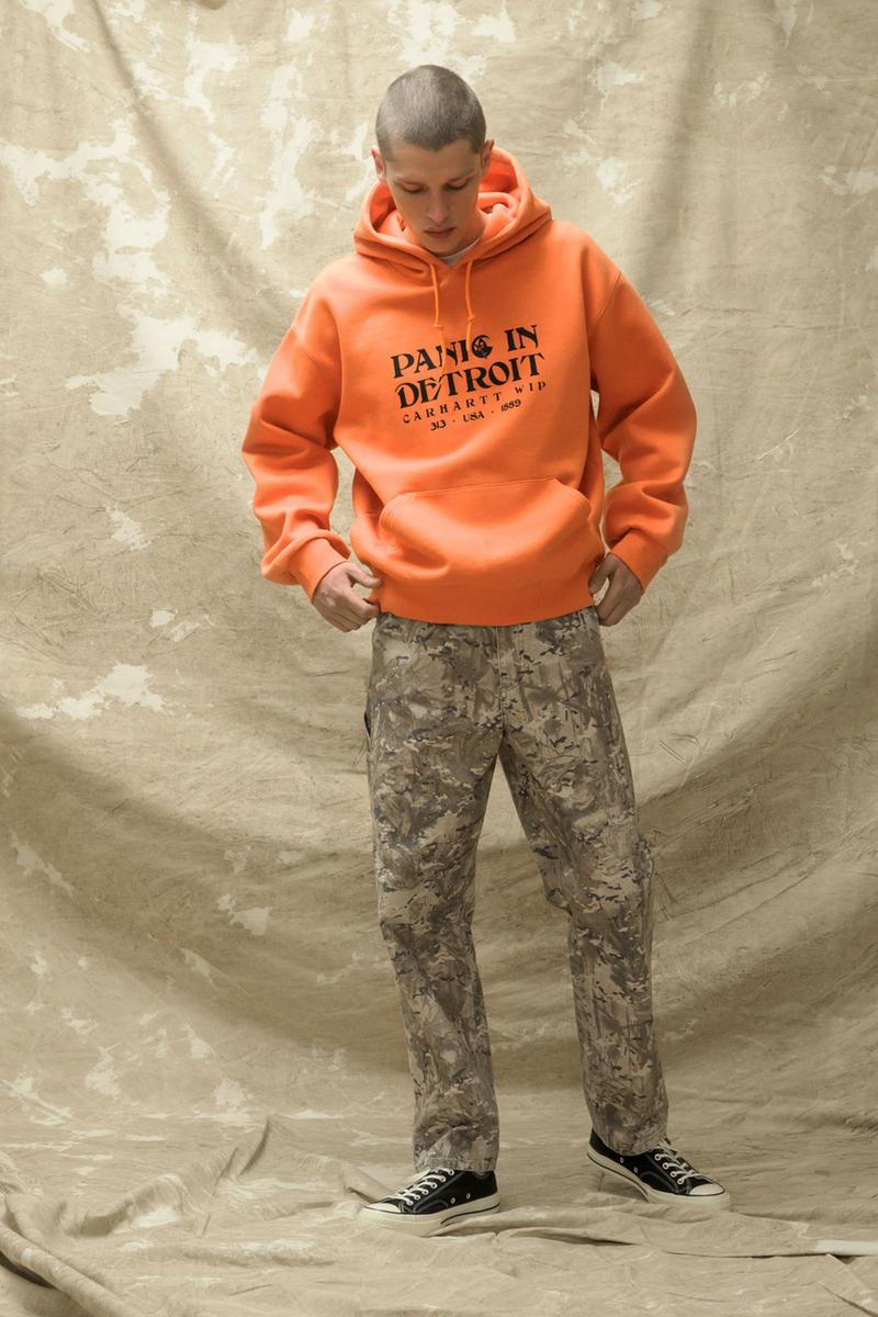 carhartt wip spring summer 2021 ss21 collection lookbook hoodie military camouflage pants