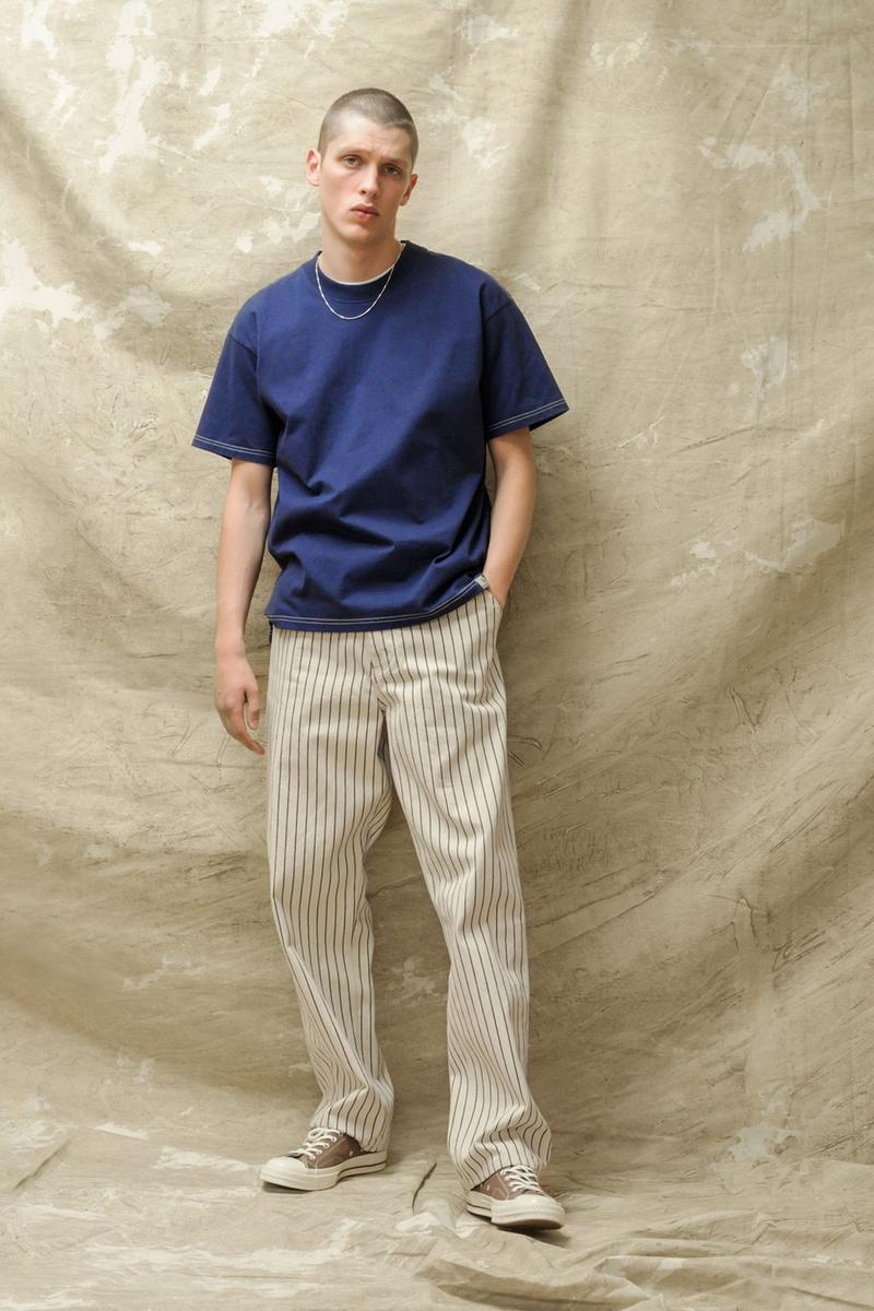 carhartt wip spring summer 2021 ss21 collection lookbook t-shirt striped trousers