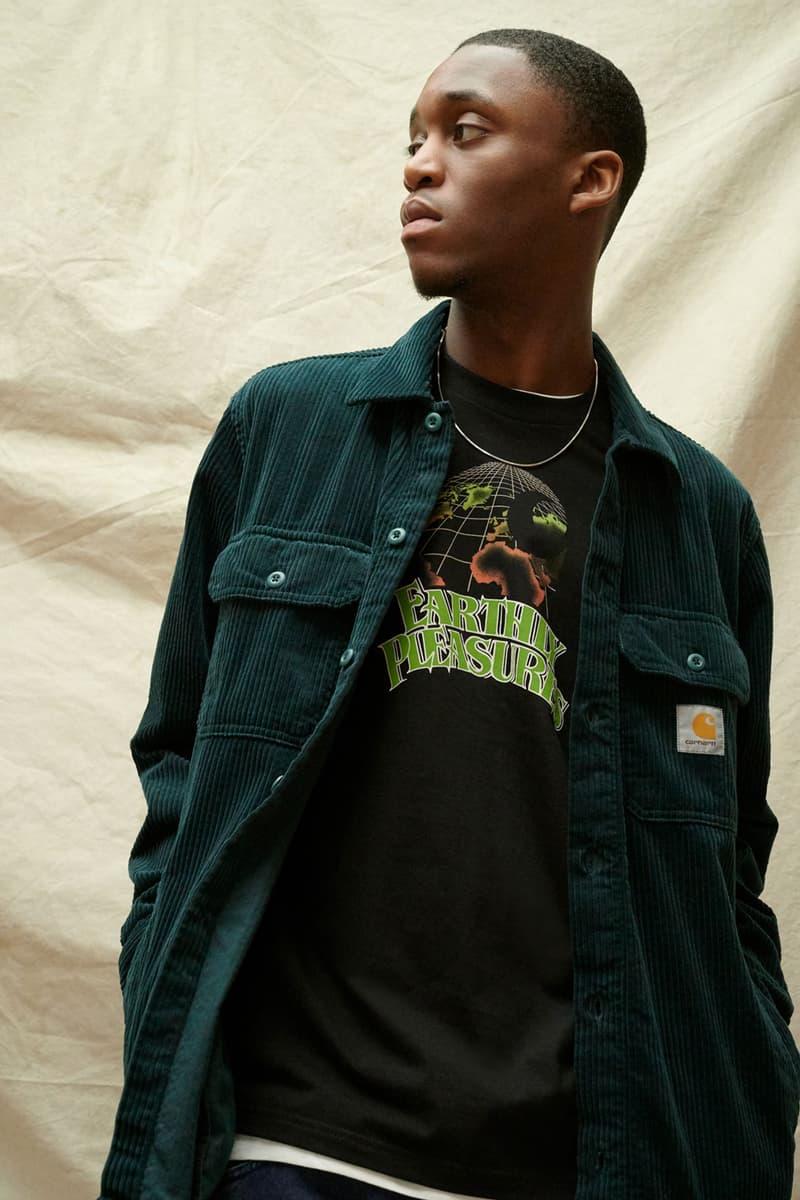 carhartt wip spring summer 2021 ss21 collection lookbook corduroy jacket t-shirt