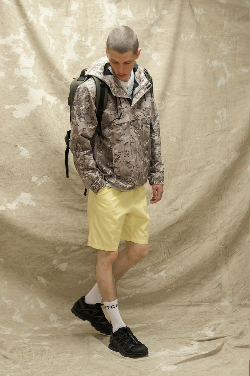 carhartt wip spring summer 2021 ss21 collection lookbook military camo jumper half zip backpack shorts