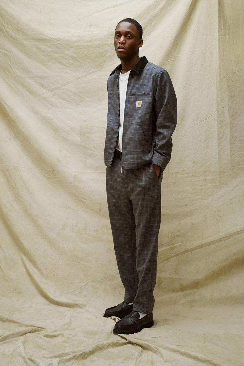 carhartt wip spring summer 2021 ss21 collection lookbook plaid check jacket pants