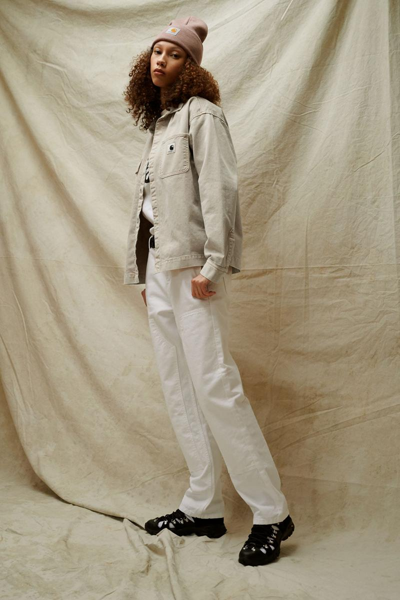 carhartt wip spring summer 2021 ss21 collection lookbook logo beanie hat jacket trousers