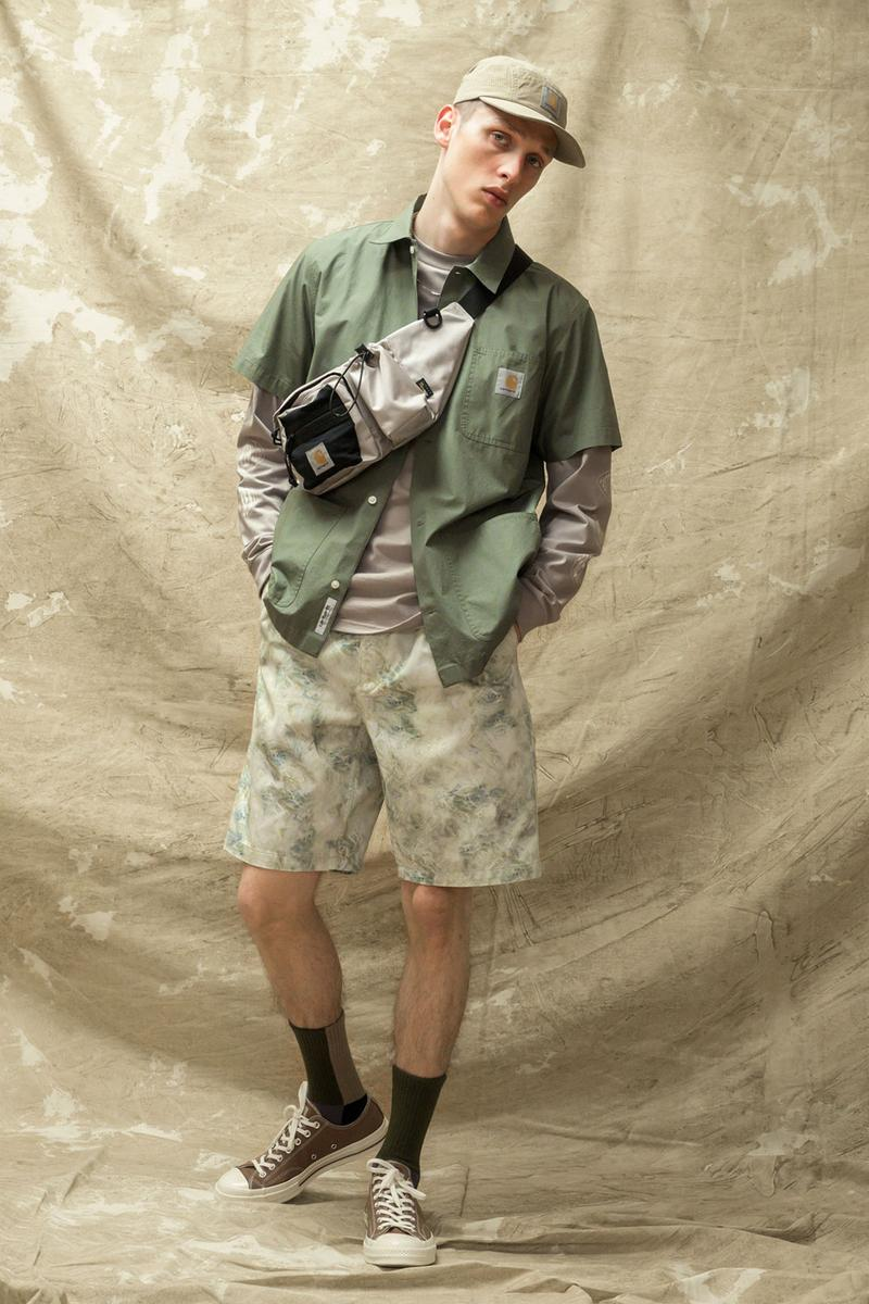 carhartt wip spring summer 2021 ss21 collection lookbook camouflage patter print shorts