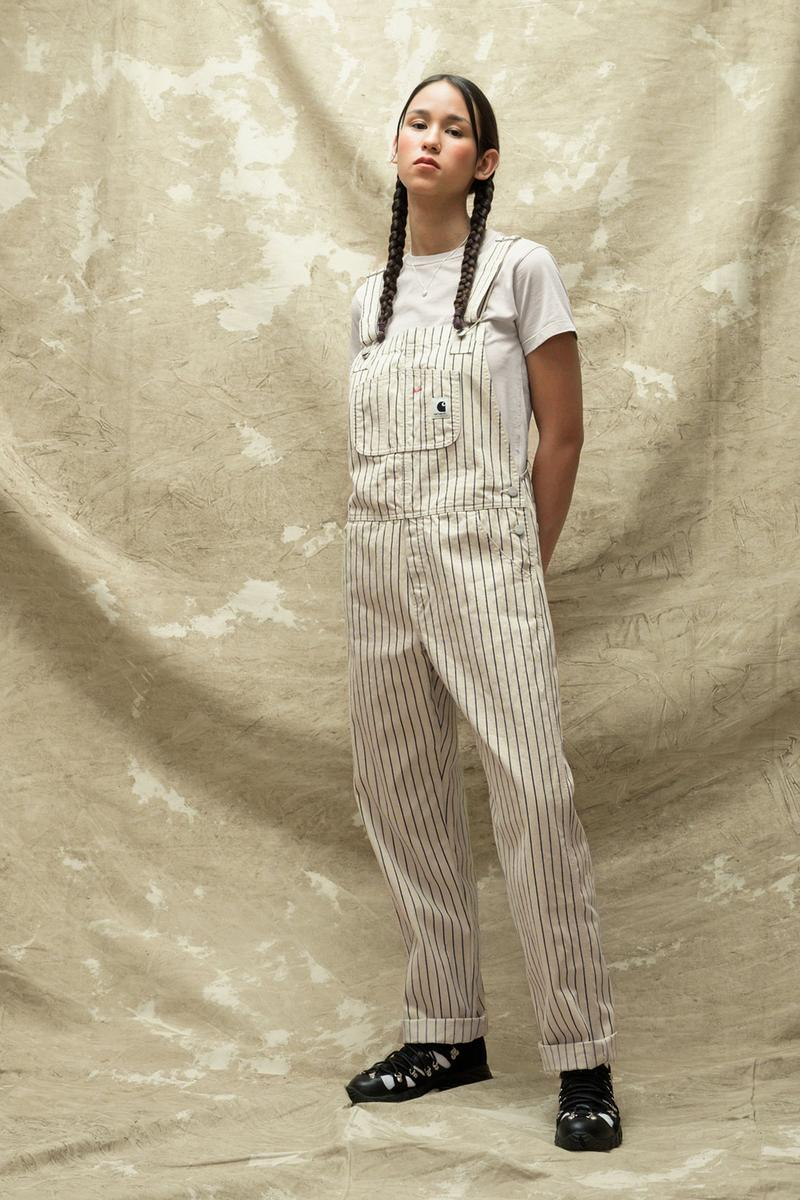 carhartt wip spring summer 2021 ss21 collection lookbook striped overalls t-shirt