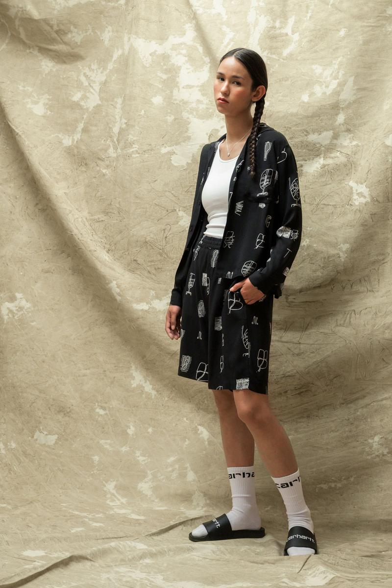 carhartt wip spring summer 2021 ss21 collection lookbook graphic top shirt shorts sandals