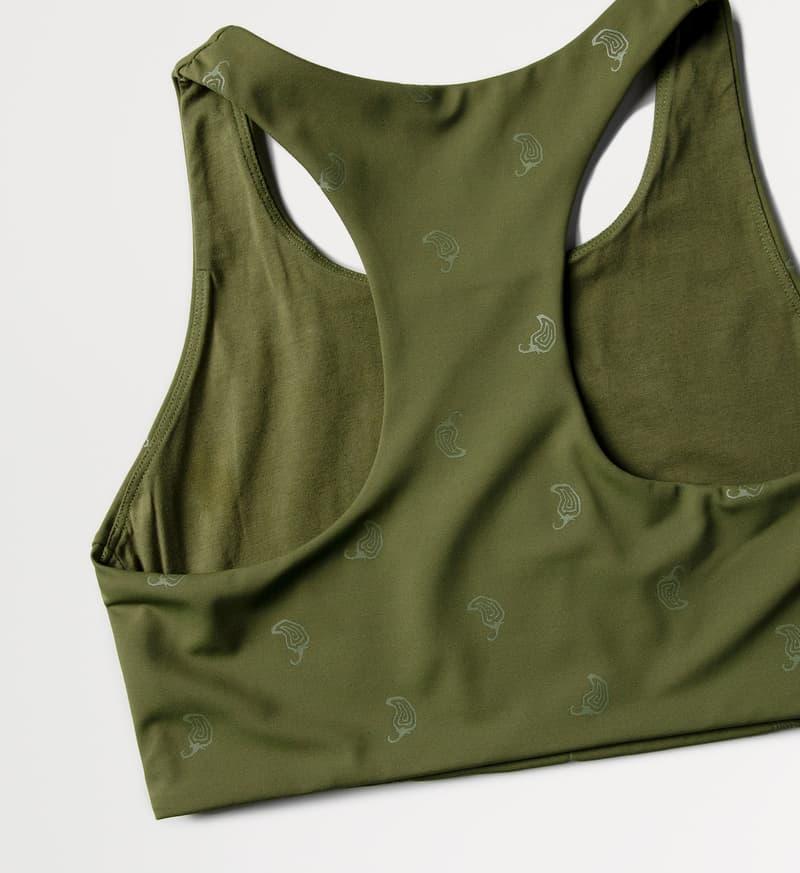 chipotle activewear fitness sustainable sports bra khaki green