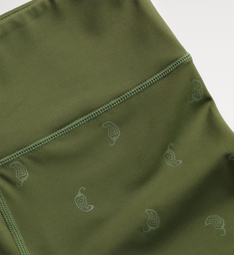 chipotle activewear fitness sustainable khaki green leggings jalapenos