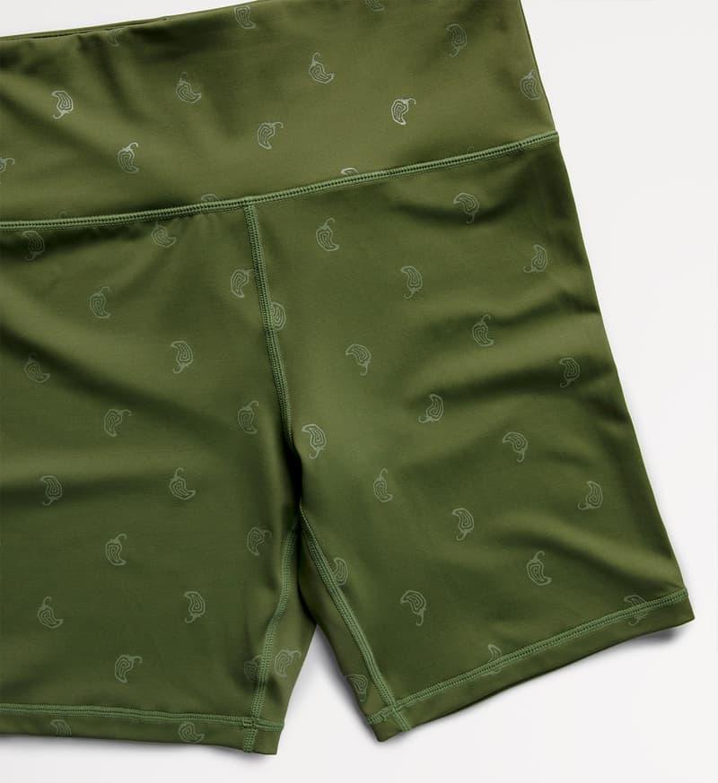 chipotle activewear fitness sustainable khaki green bike shorts