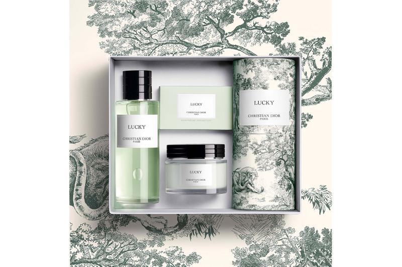 christian dior beauty perfumes fragrances toile de jouy limited edition lucky green box packaging cream soap