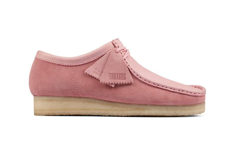 clarks originals combi wallabee pastel pink rose colorway footwear shoes lateral