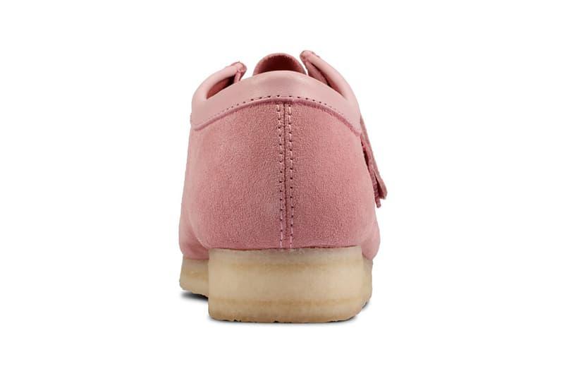clarks originals combi wallabee pastel pink rose colorway footwear shoes heel