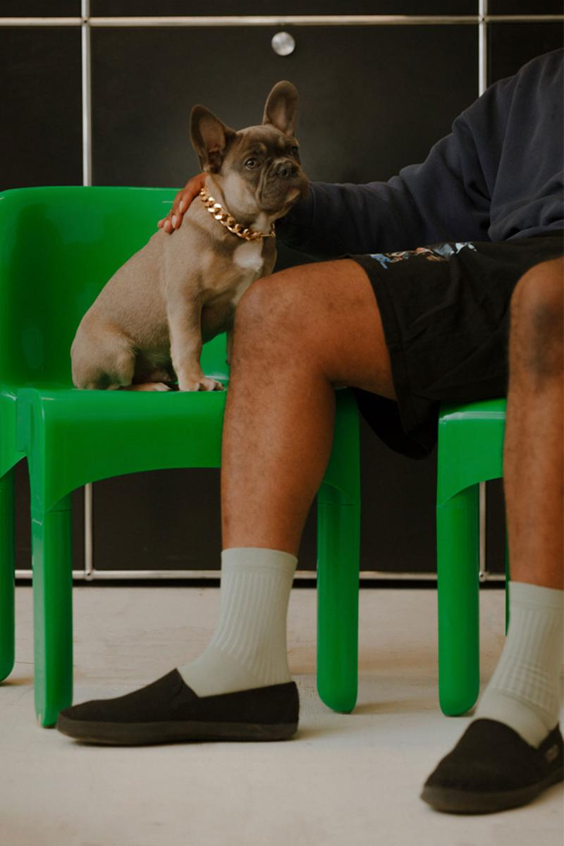 comme si lichen collaboration lookbook campaign hassan rahim dog puppy