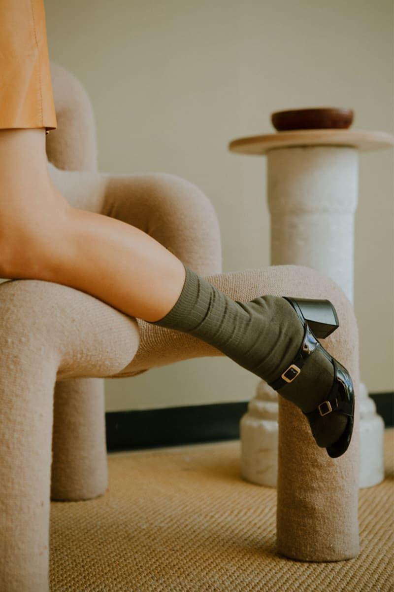 comme si lichen collaboration lookbook jenn park socks heels