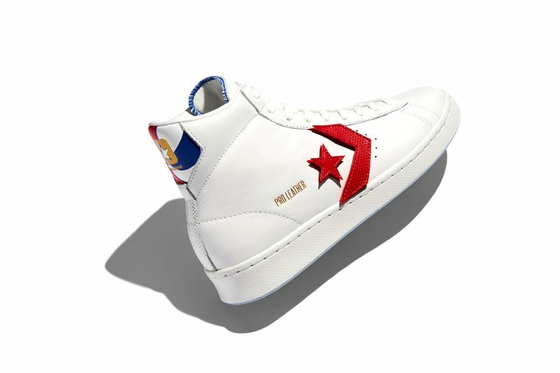 converse spring summer basketball collection pro leather white red high top lateral