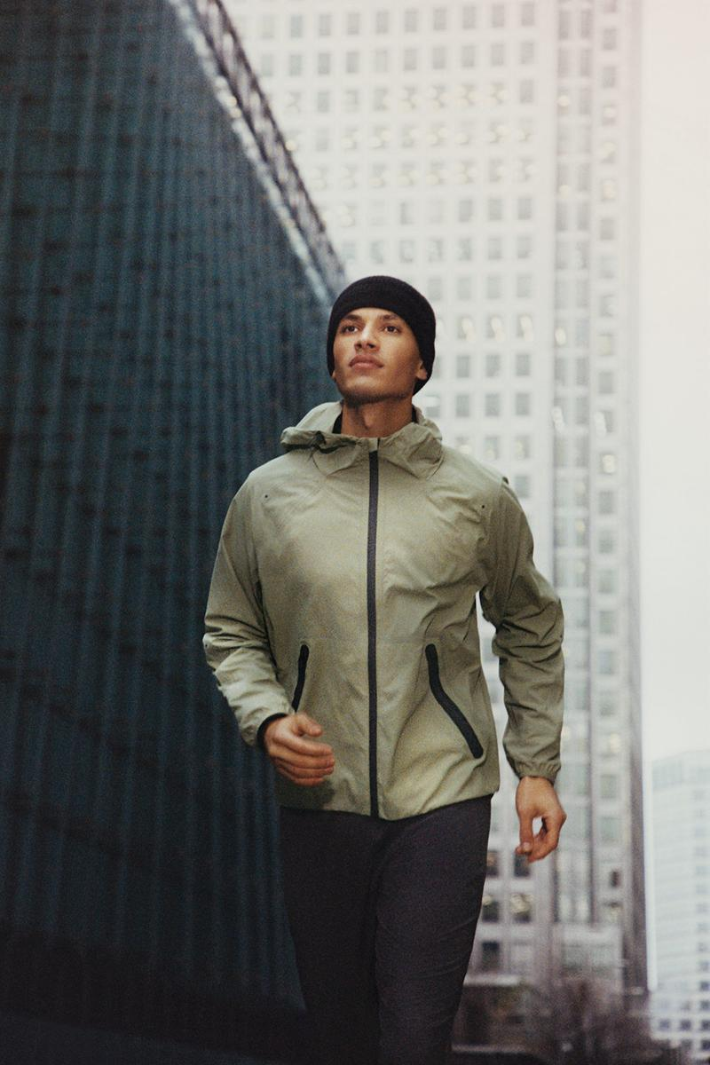 cos activewear collection drop 2 mens jacket beanie pants buildings