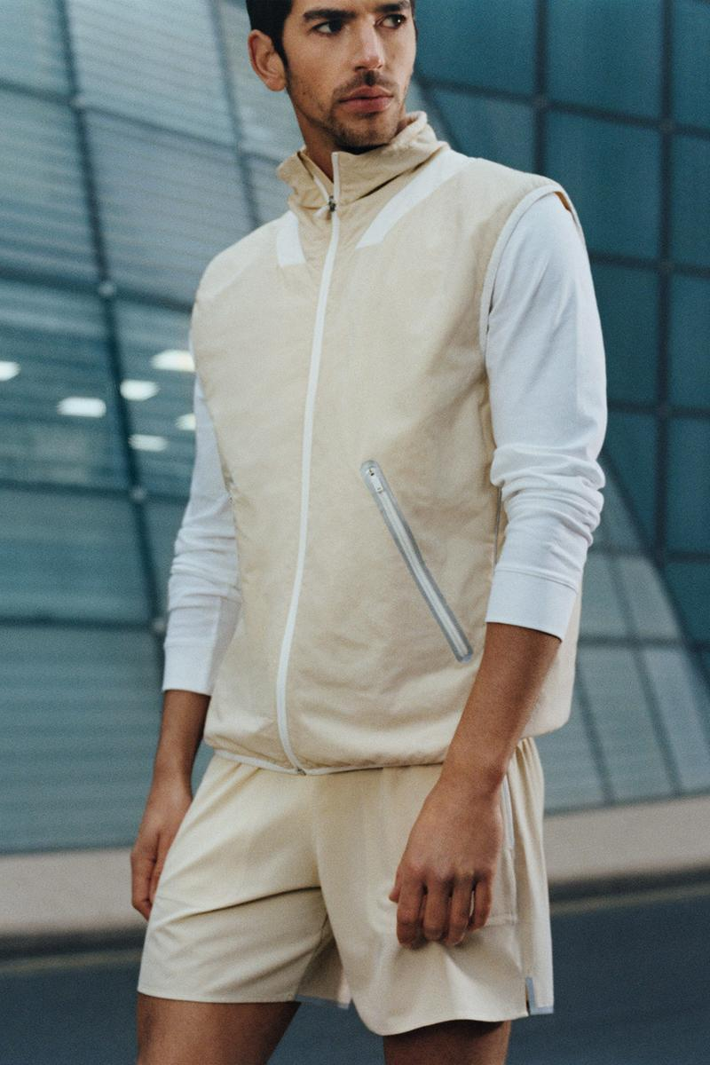 cos activewear collection drop 2 mens vest sweater shorts beige white
