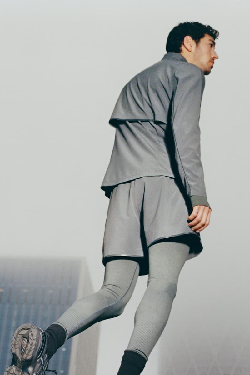 cos activewear collection drop 2 mens jacket shorts gray leggings shoes socks
