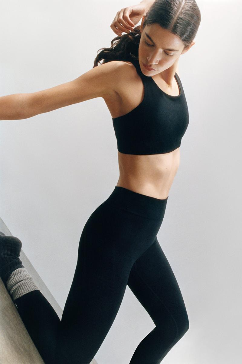 cos activewear collection drop 2 womens sports bra leggings socks black