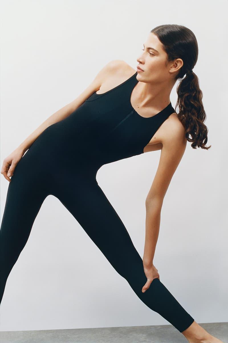 cos activewear collection drop 2 womens tank top leggings black
