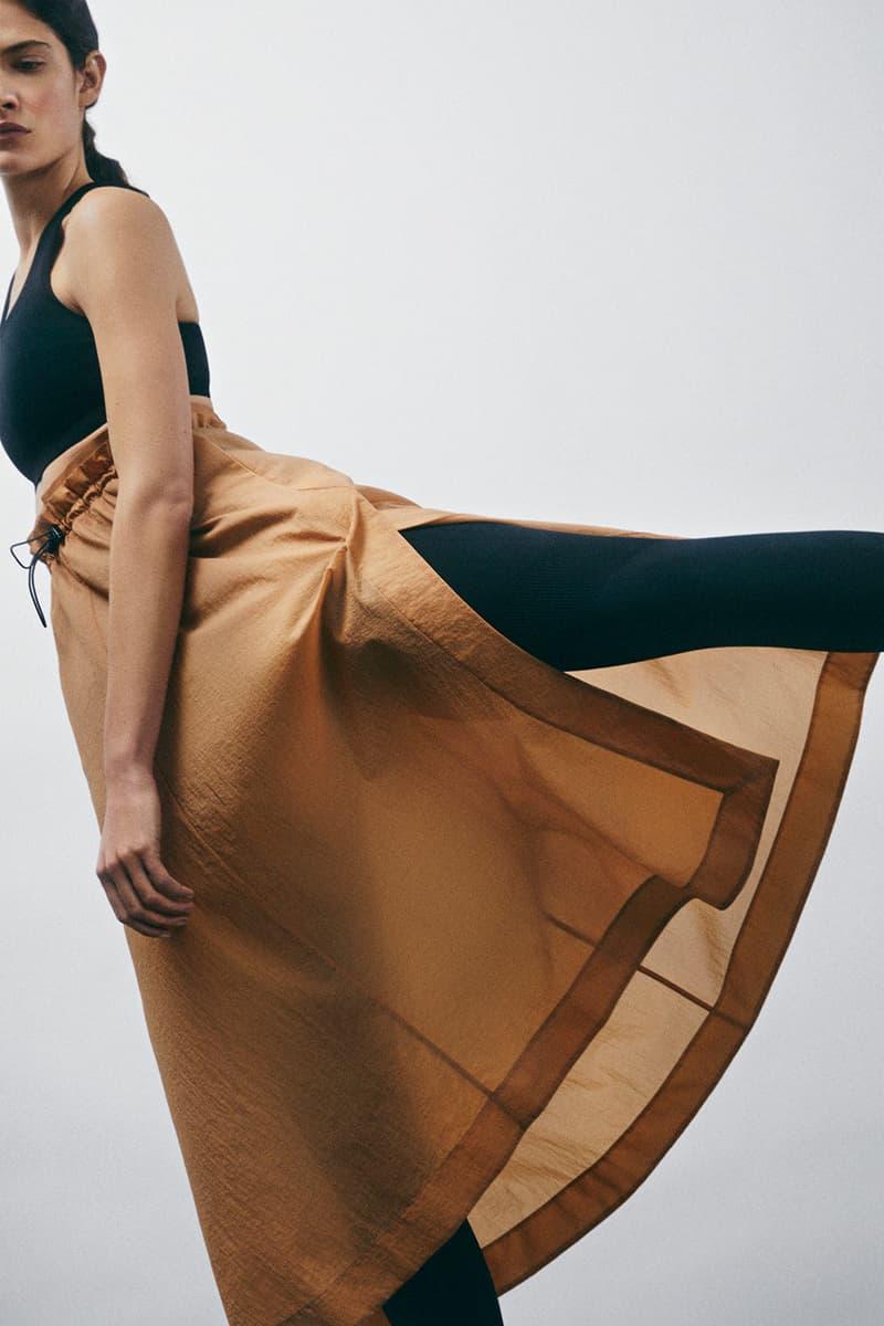 cos activewear collection drop 2 womens skirt leggings sports bra brown black