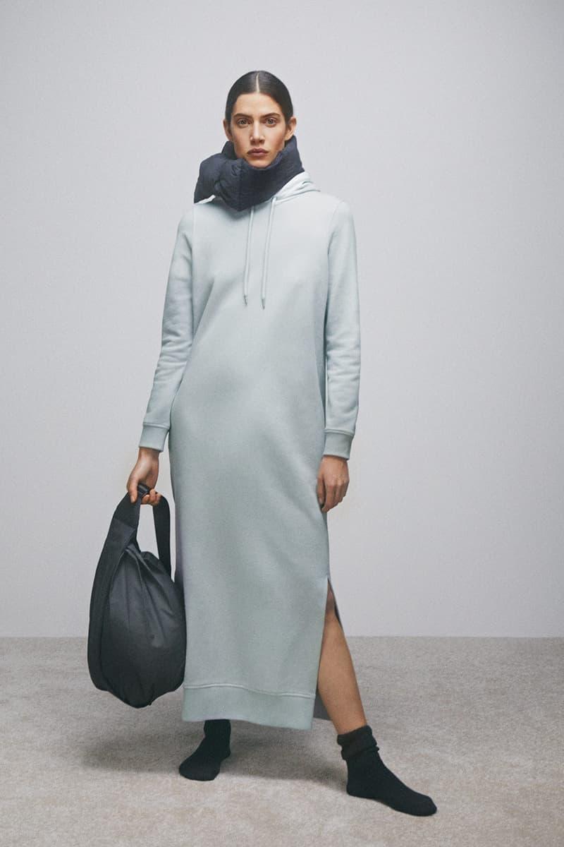 cos activewear collection drop 2 womens dress hoodie bag socks scarf gray black