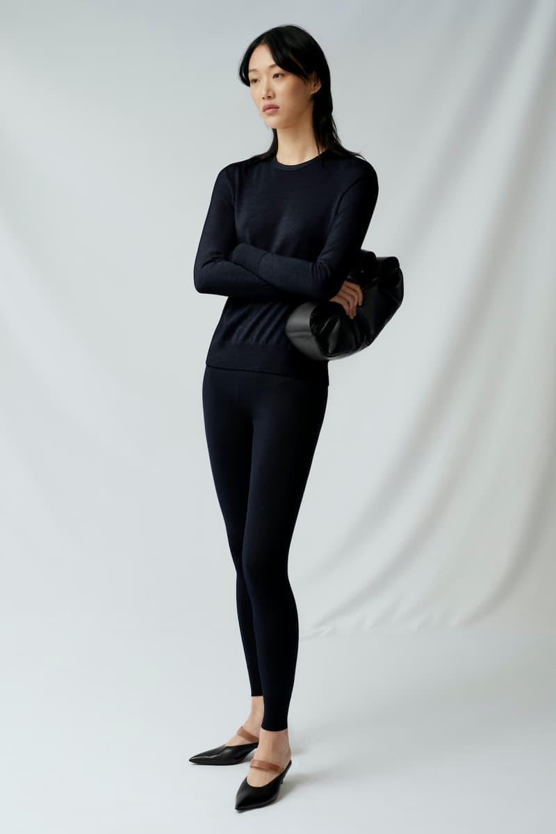 sora choi cos spring womenswear summer collection lookbook black sweater leggings pursue bag heels sandals shoes
