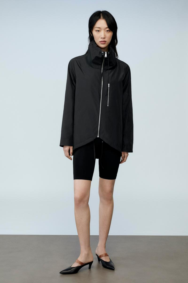 sora choi cos spring womenswear summer collection lookbook black jacket outerwear biker shorts heels shoes sandals