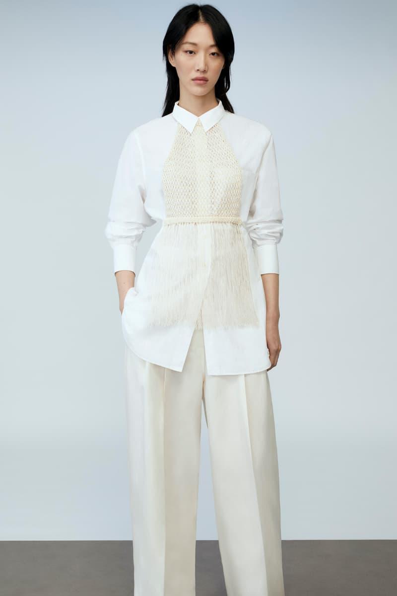 sora choi cos spring womenswear summer collection lookbook white long sleeve shirt pants belt