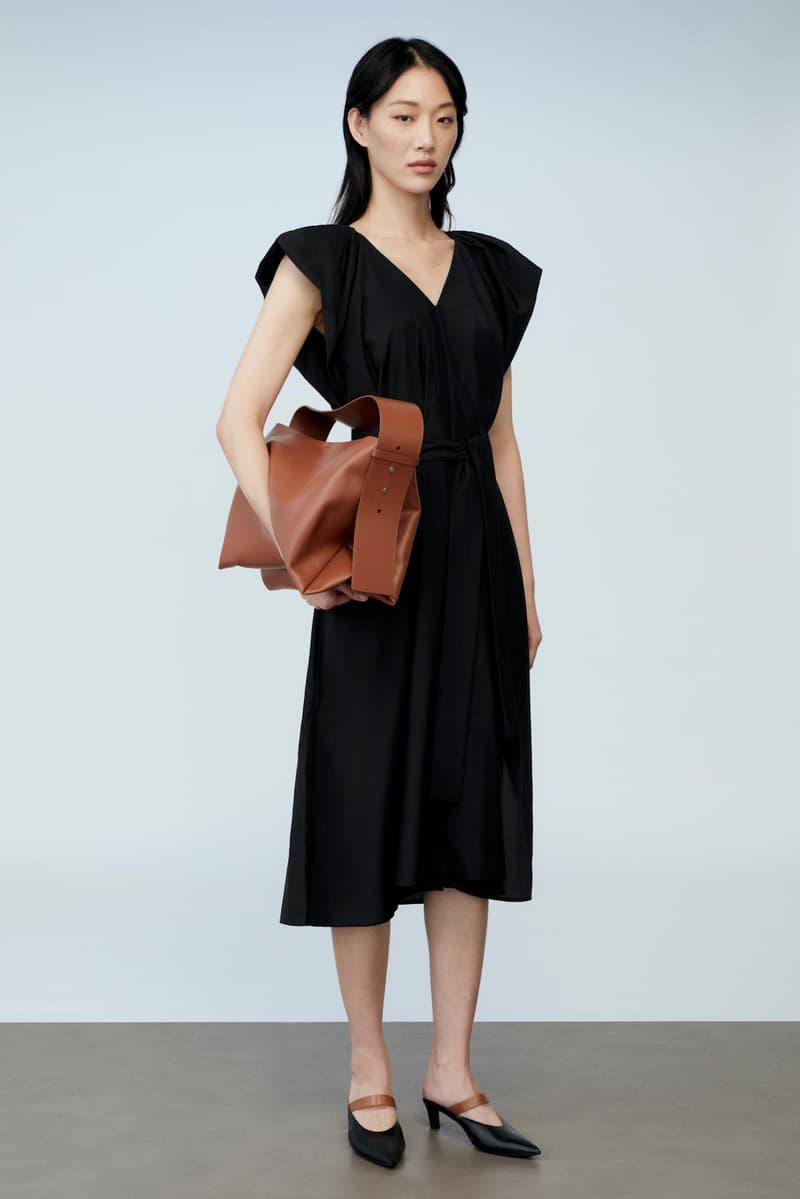 sora choi cos spring womenswear summer collection lookbook black dress brown bag heels shoes sandals
