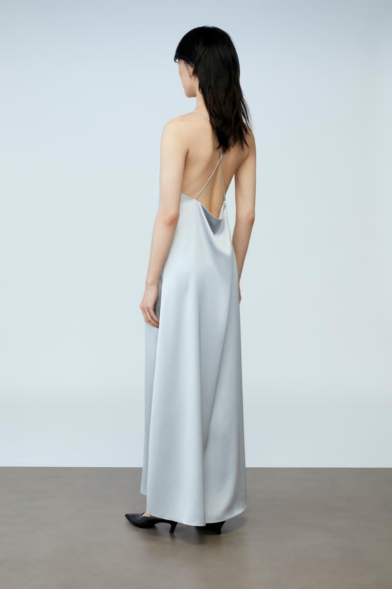 sora choi cos spring womenswear summer collection lookbook silver gray dress black heels
