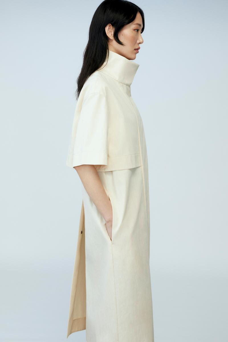 sora choi cos spring womenswear summer collection lookbook white turtle neck dress pockets