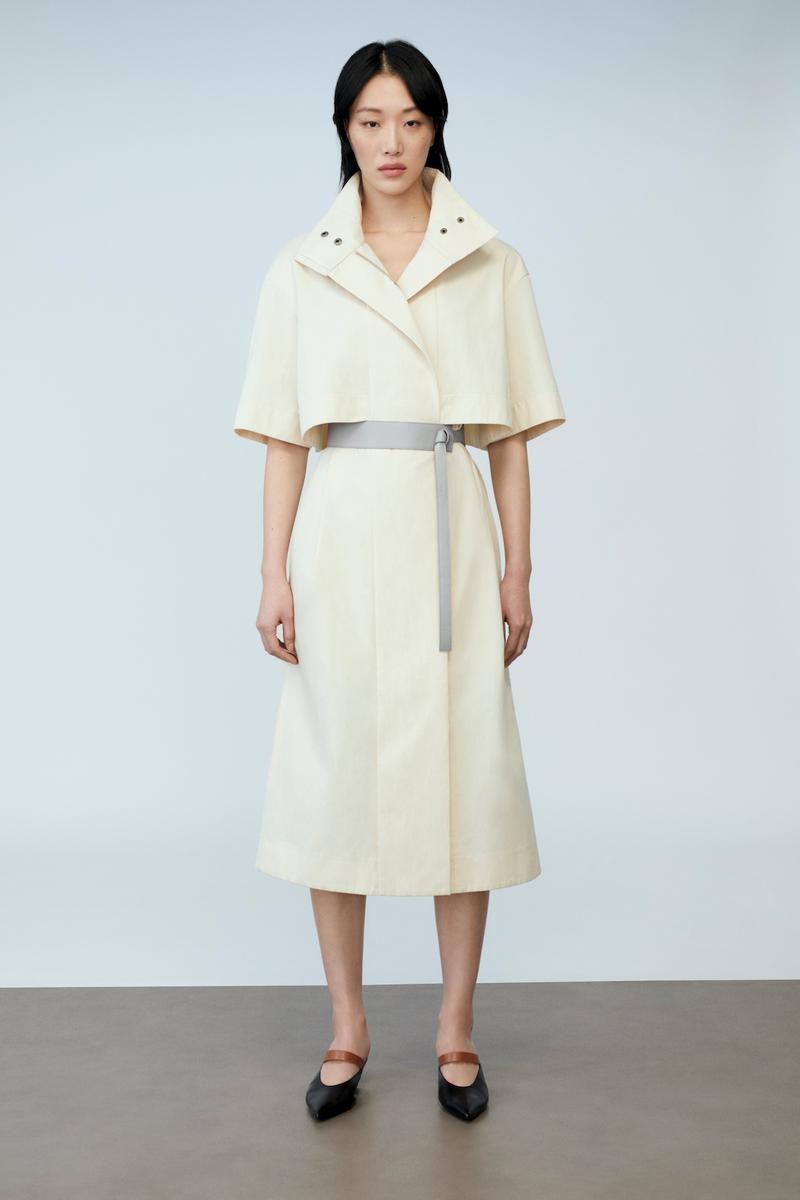 sora choi cos spring womenswear summer collection lookbook white shirt jacket skirt dress belt black shoes sandals