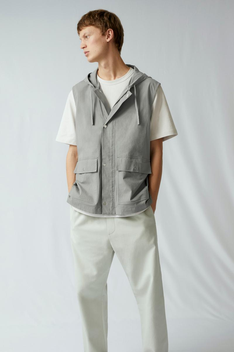 cos spring menswear summer collection lookbook vest gray white tee t shirt pants