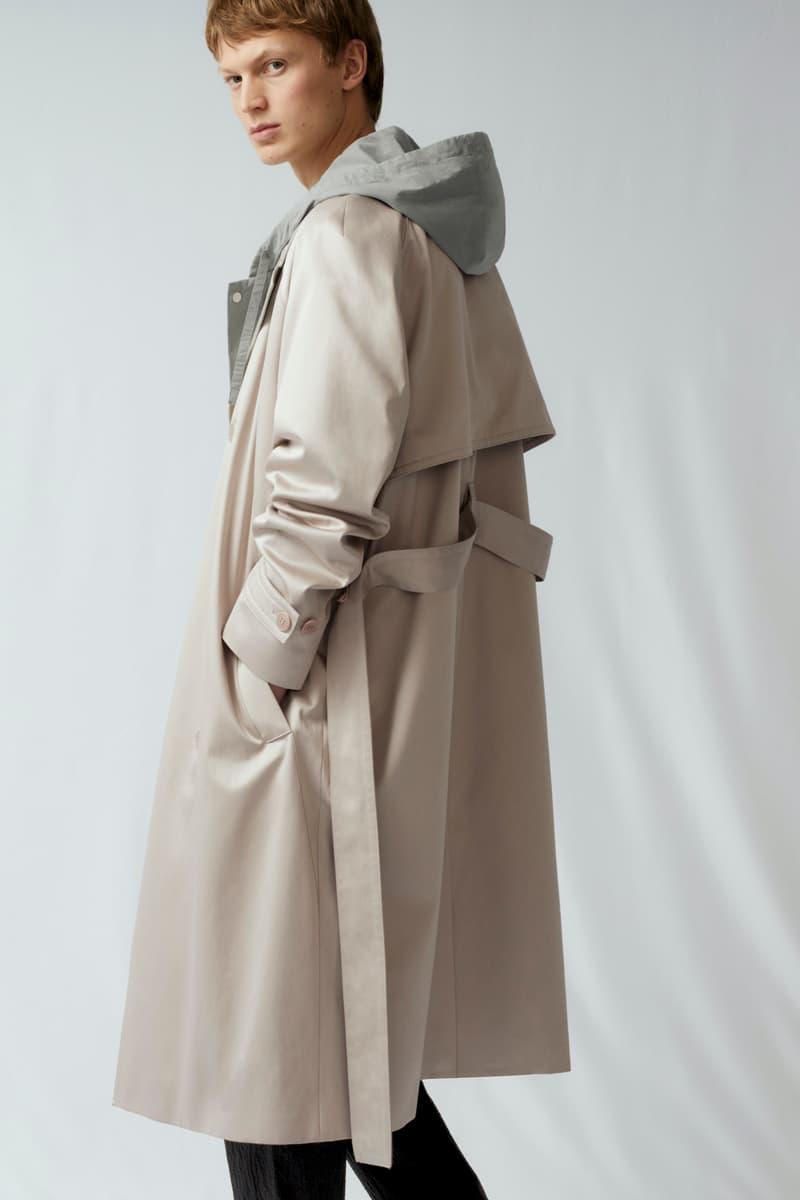 cos spring menswear summer collection lookbook jacket outerwear hoodie brown beige gray