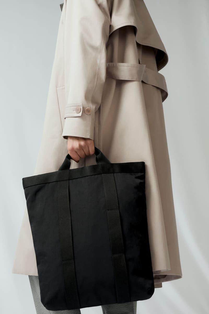 cos spring menswear summer collection lookbook jacket beige brown coat outerwear black bag