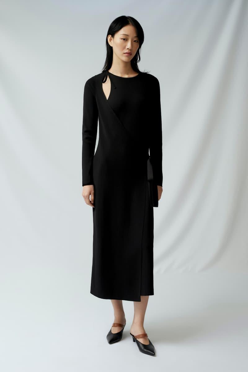 sora choi cos spring womenswear summer collection lookbook black long sleeve dress shoes heels sandals purse