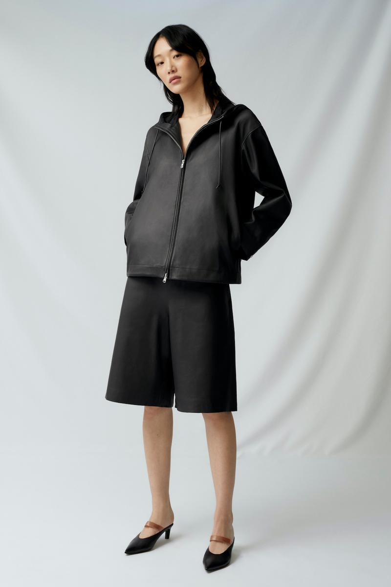 sora choi cos spring womenswear summer collection lookbook black jacket outerwear shorts heels shoes sandals