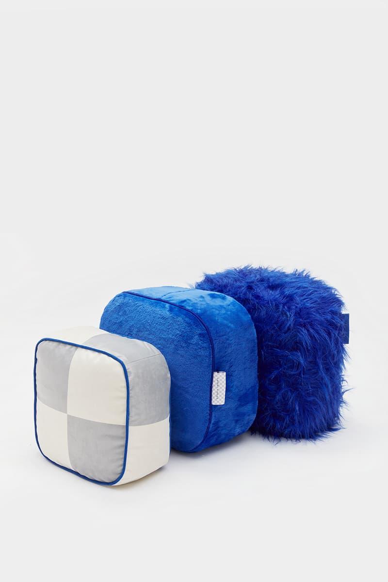 crosby studios homeware collection hbx pillow blue gray fleece fur