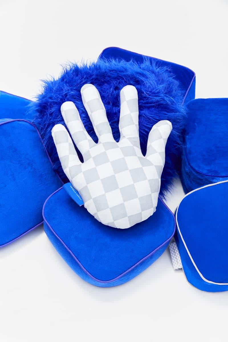 crosby studios homeware collection hbx pillows hand gray blue fleece fur
