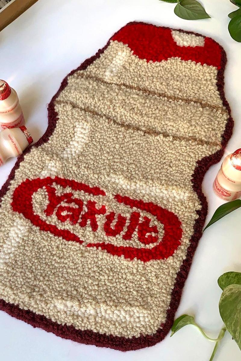 cynthia chen asian snack inspired rugs home decor yakult drink