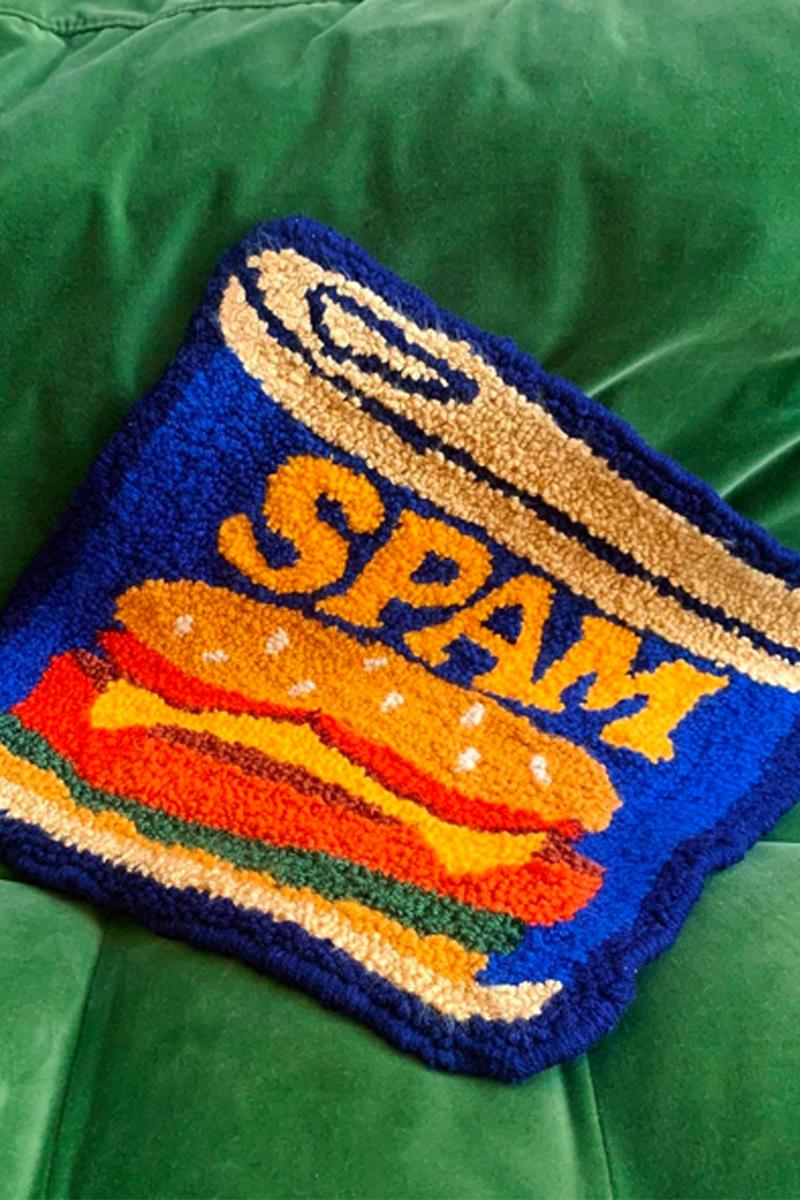 cynthia chen asian snack inspired rugs home decor spam can