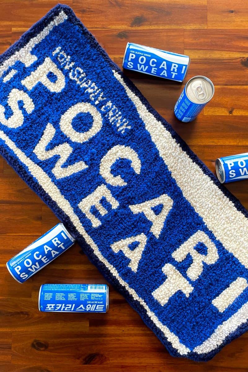 cynthia chen asian snack inspired rugs home decor pocari sweat can