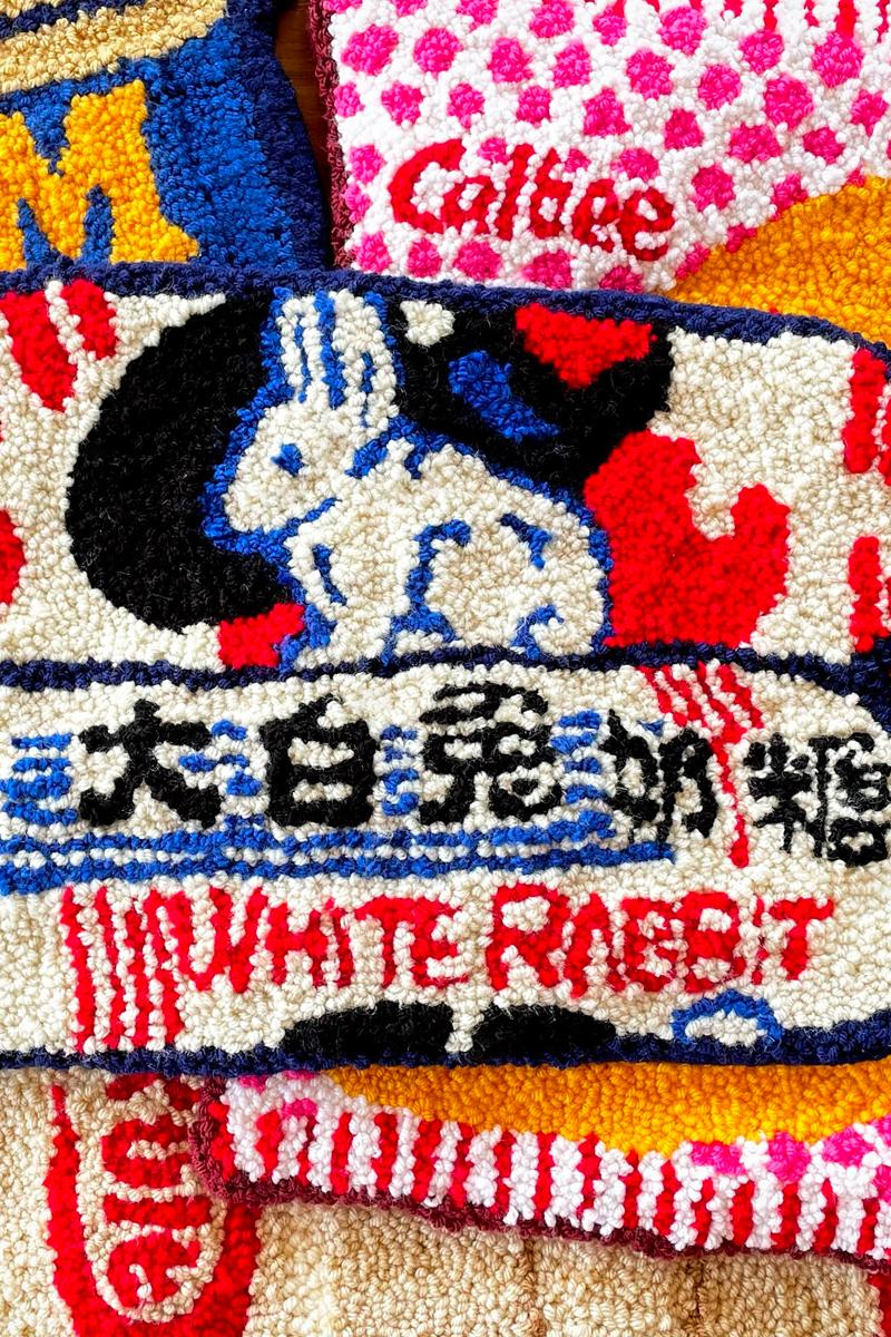cynthia chen asian snack inspired rugs home decor white rabbit candy
