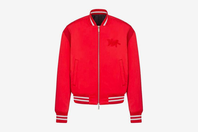 dior shawn stussy chinese lunar new year ox capsule collection bomber jacket red