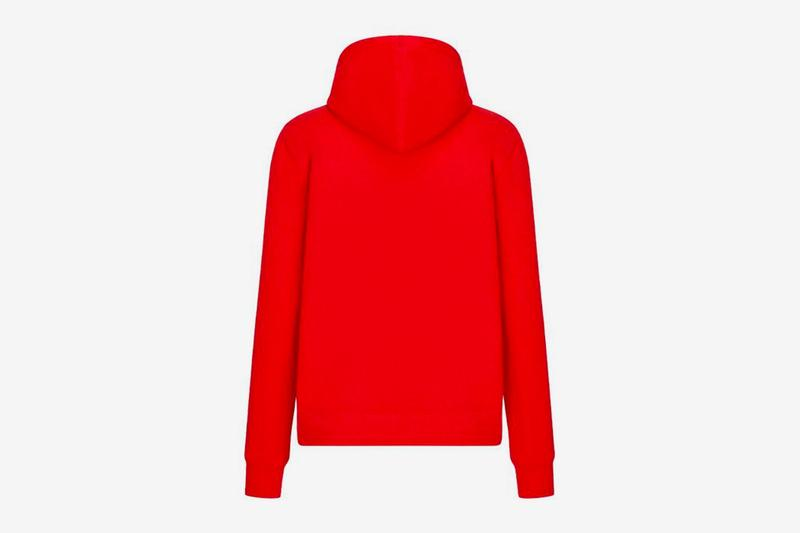 dior shawn stussy chinese lunar new year ox capsule collection hoodie red