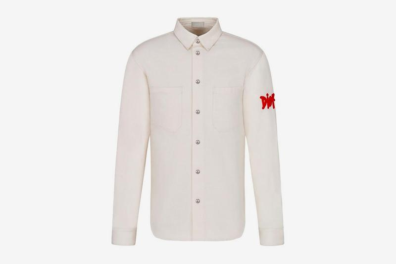 dior shawn stussy chinese lunar new year ox capsule collection white shirt collar logo red