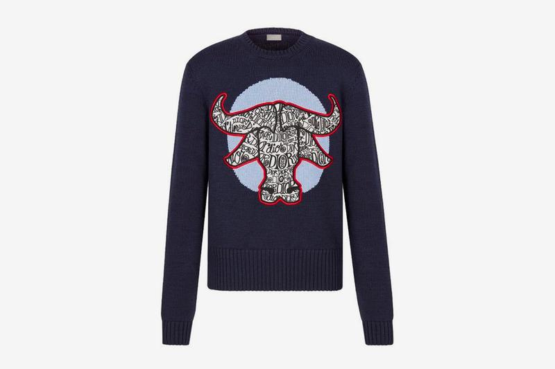 dior shawn stussy chinese lunar new year ox capsule collection knitwear sweater