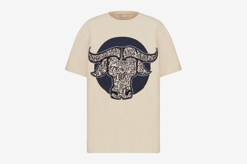 dior shawn stussy chinese lunar new year ox capsule collection t-shirt tee white