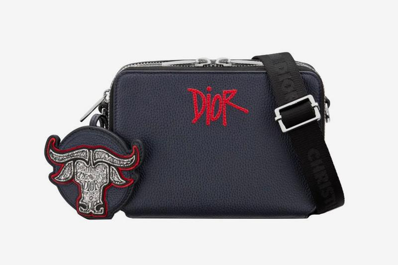 dior shawn stussy chinese lunar new year ox capsule collection crossbody handbag